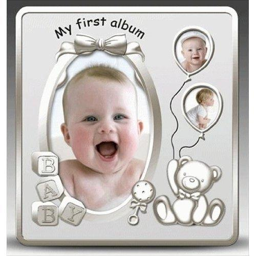 My First Album Satin Silver Baby Photo Album