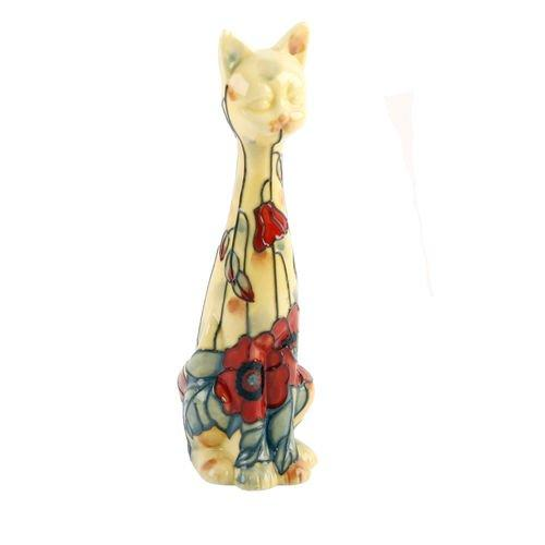 Old Tupton Ware Tall Cat Yellow Poppy Design