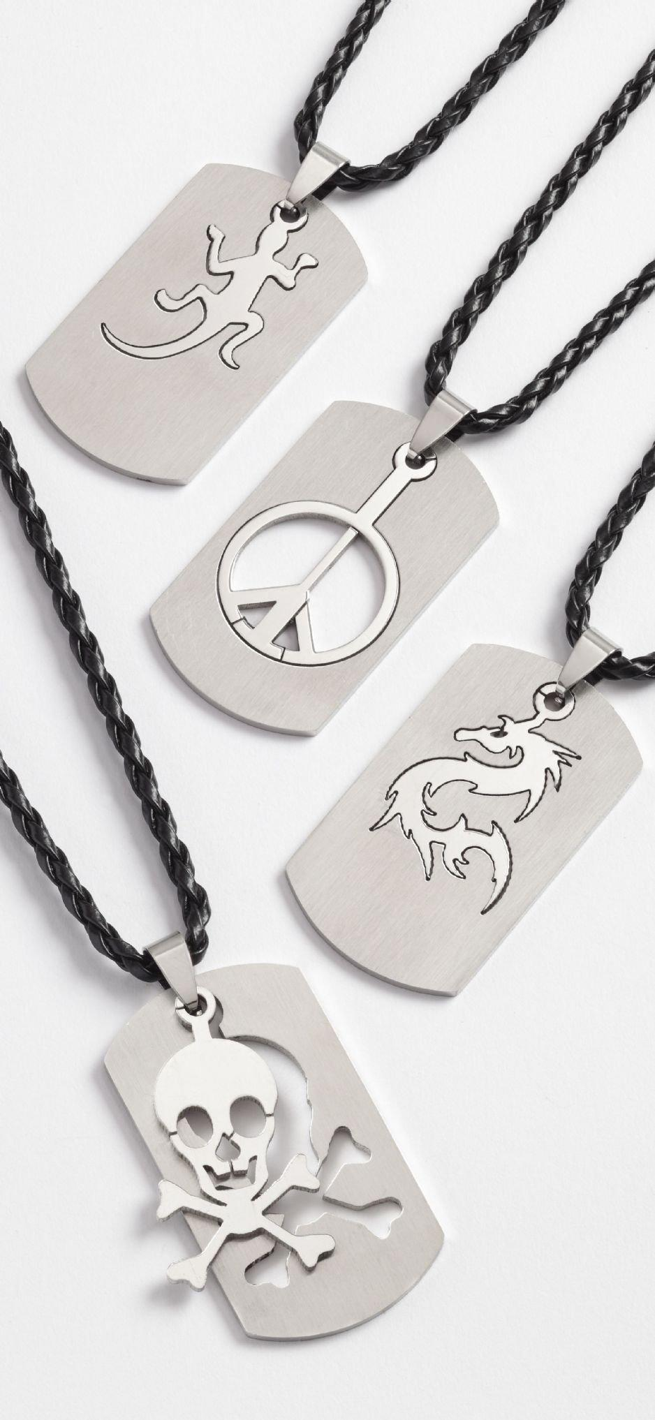 Stainless Steel Cut Out Dog Tags Display