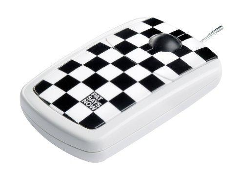 USB Optical Mouse Checkered Flag Design