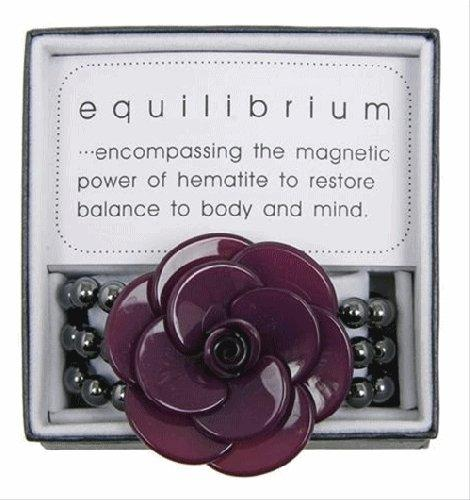Equilibrium Bracelet Large 3D Flower Purple