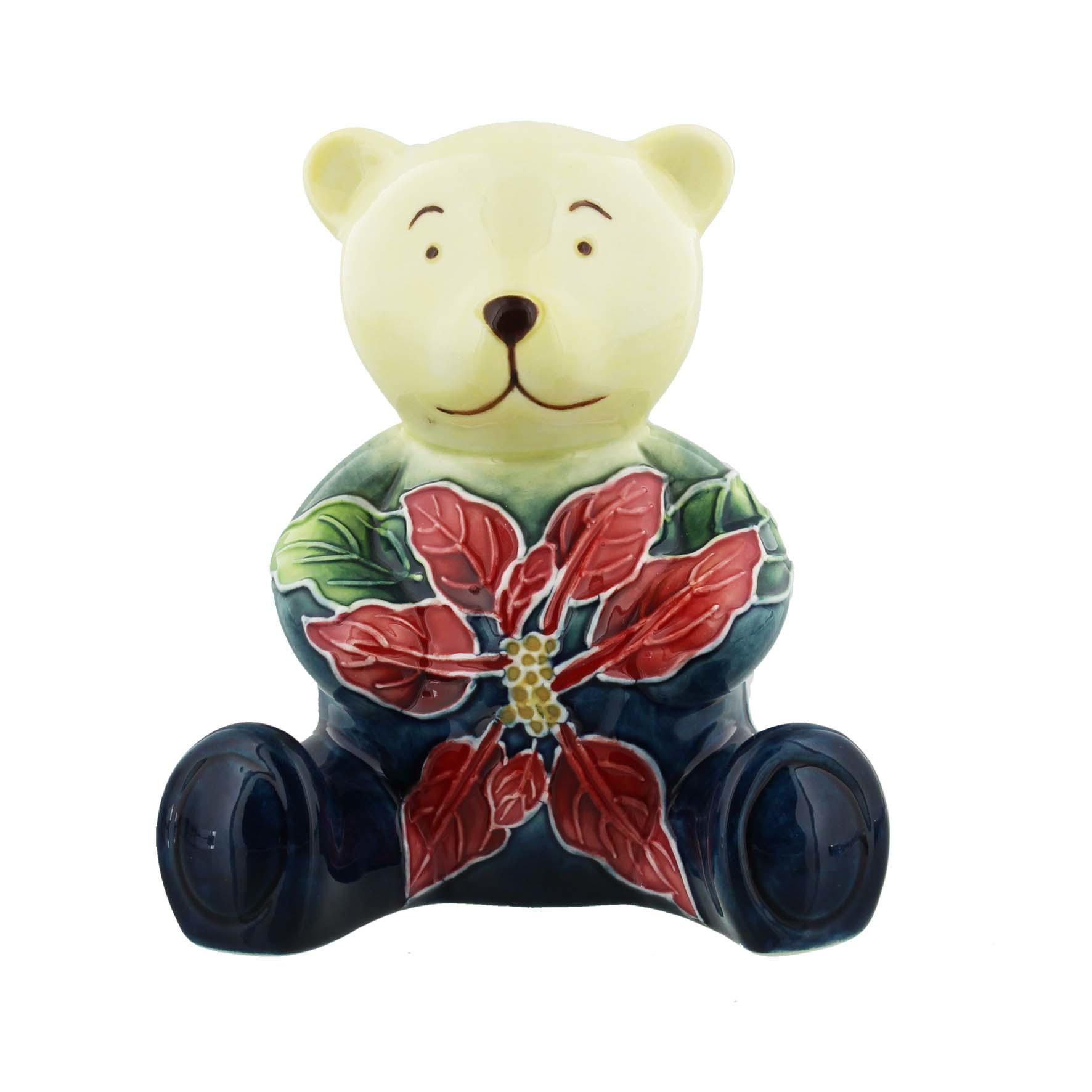 Old Tupton Ware Bear with Poinsettia Design