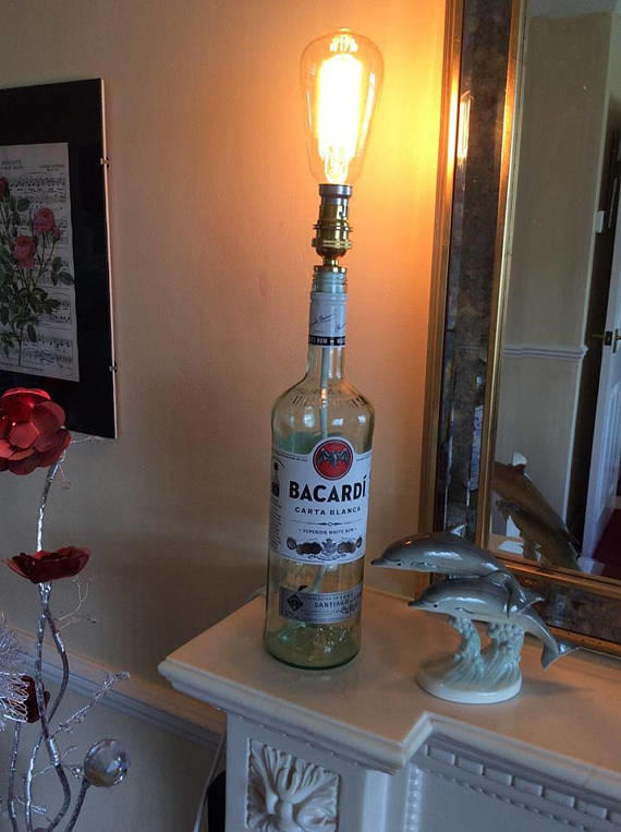 Bacardi Rum Bottle Lamp
