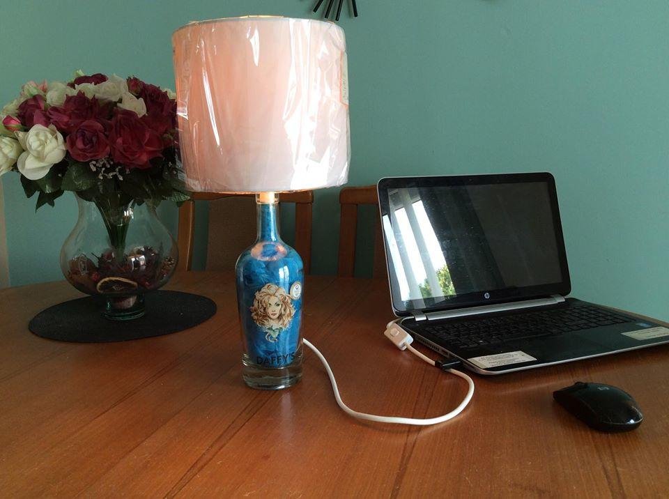 Decorative Daffy's Gin Bottle Table or Desk Top Lamp