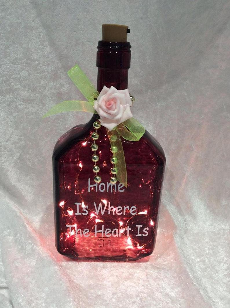 Home is where the heart is Bottle with Lights