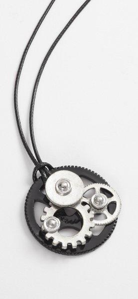 Steampunk Style Metal Cogs Pendant