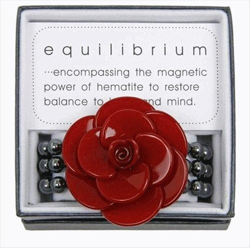 Equilibrium Bracelet Large 3D Flower Red