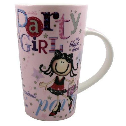 Planet Happy Party Girl Latte Mug