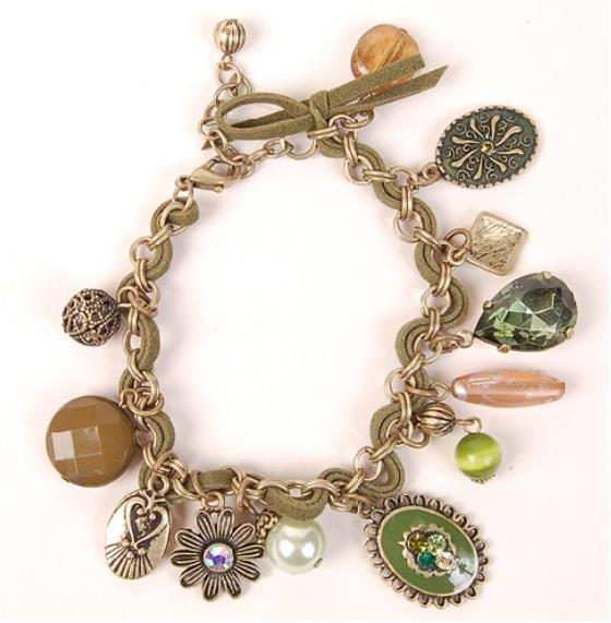 Antique Style Green Fashion Bracelet
