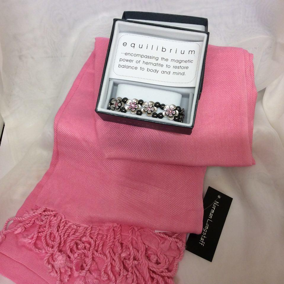 Pashmina and Bracelet Gift Pack Pink