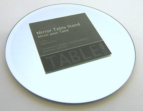 Glass Mirror Table Display Stand