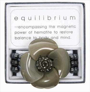 Equilibrium Bracelet Large Acrylic Flower Grey
