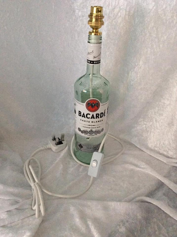 Bacardi Rum Bottle Lamp Inline Switch