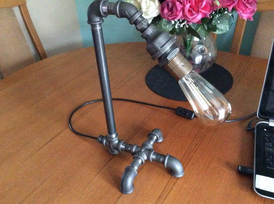 Industrial Steel Pipe Table Lamp - Ranger