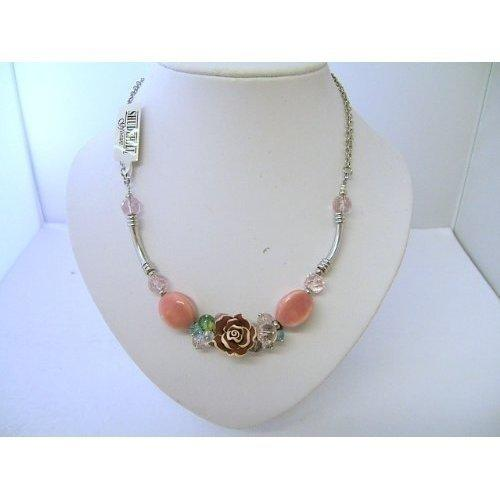 Trevi Necklace Rose Brown Bead