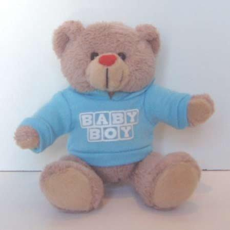 Baby Boy Message Bear