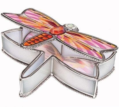 Amia Glass Jewellery Box Flame Skimmer Design