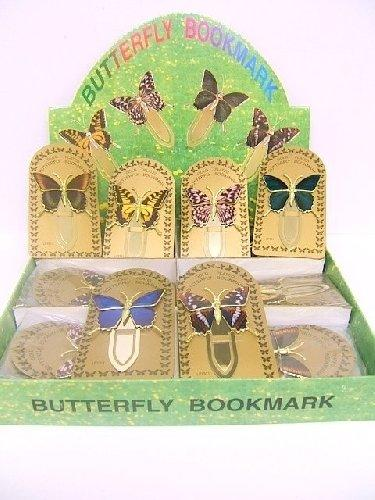 Gold Plated Butterfly Design Bookmarks