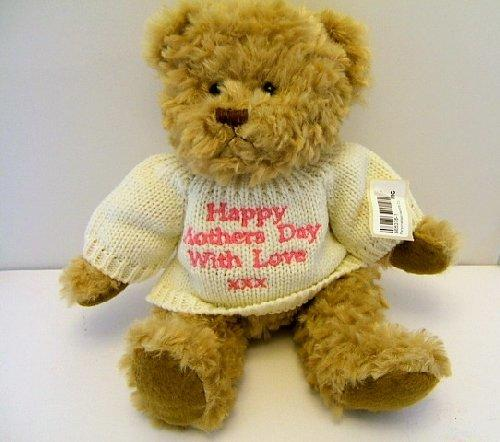 Happy Mothers Day With Love Teddy Pink Embroidery