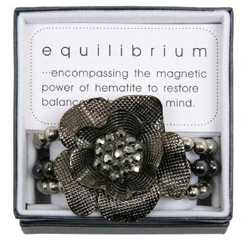 Equilibrium Bracelet Antique Rose Hematite Magnetic