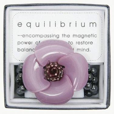 Equilibrium Bracelet Large Acrylic Flower Purple