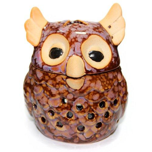 Brown Owl Design Ceramic Fragrance Oil Burner
