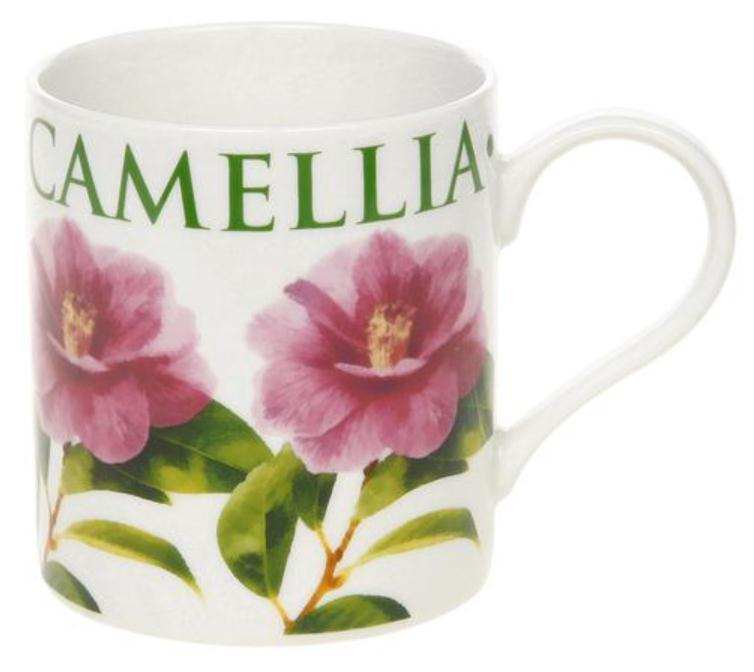 Big Letter Flower Fine China Mug Camellia