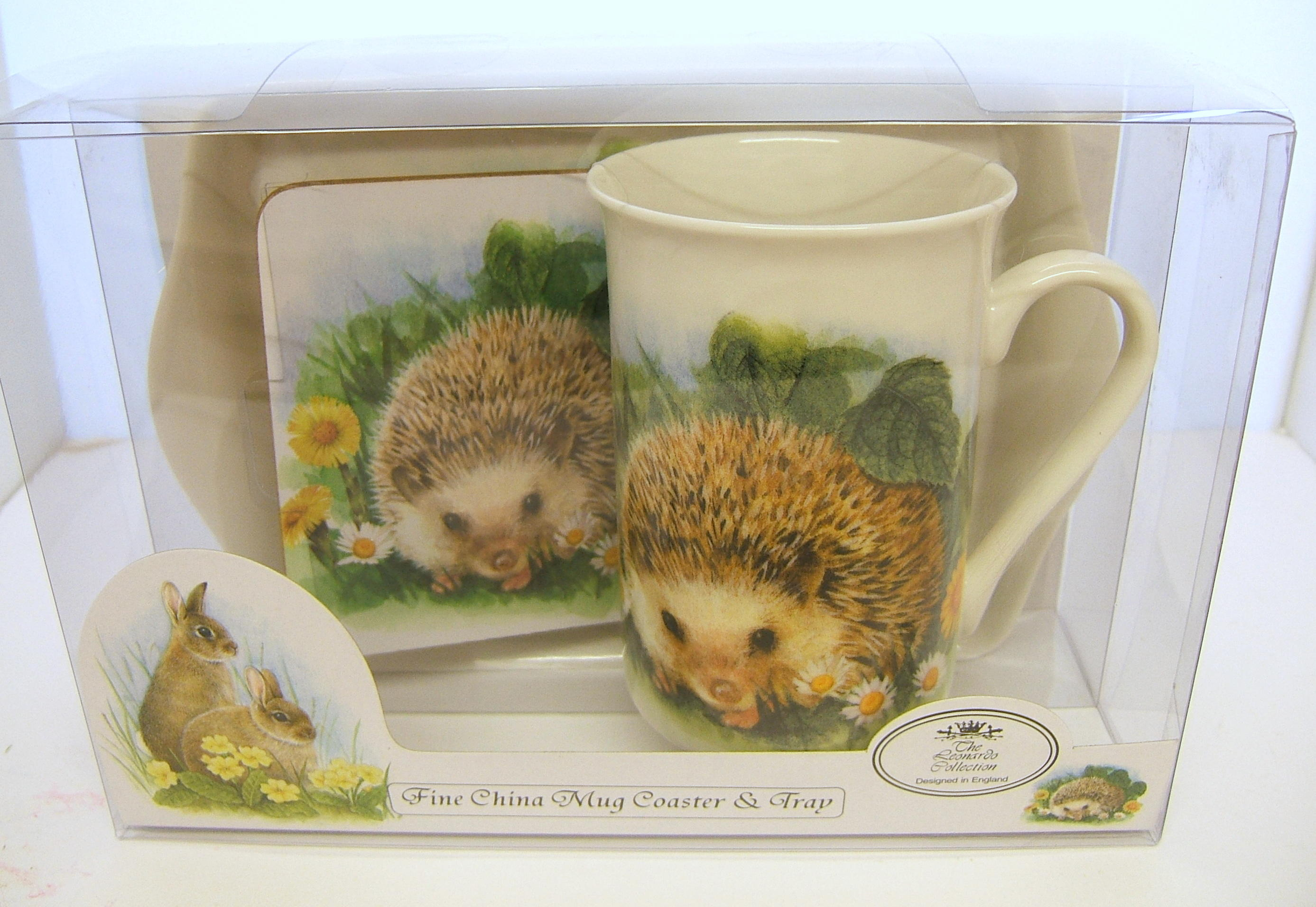 Mug Tray and Coaster Set Wildlife Hedgehog
