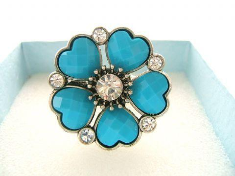 Ladies Fashion Dress Rings Touch of Colour Blue