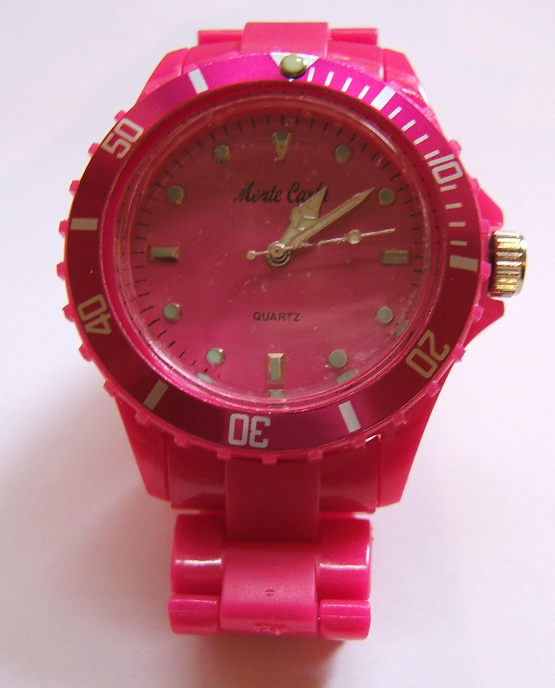 Monte Carlo Unisex Fashion Watch Pink