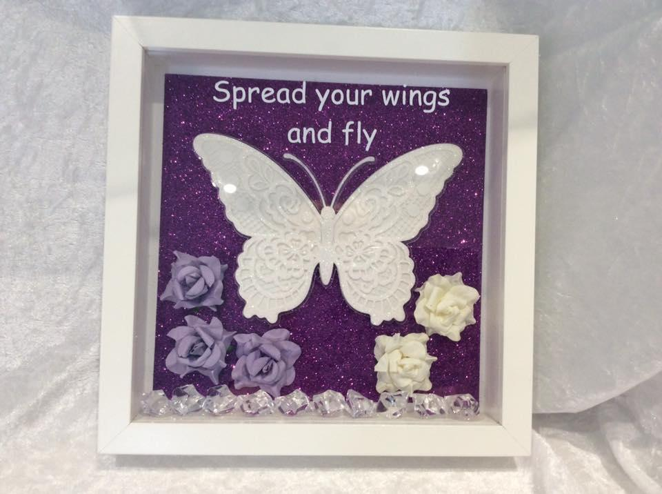 Butterfly Frame Spread Your Wings and Fly in Purple
