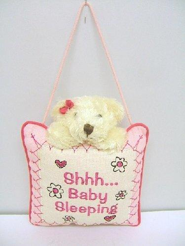 Baby Girl Shhh Baby Sleeping Nursery Cushion Hanger