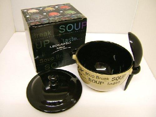 Stoneware Dark - Beige Soup Bowl with No Spoon LP17368 Reduced