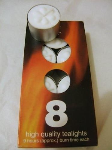 Tealight Candles Box of 8 High Quality