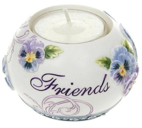 Tealight Candle Holder 7cm x 4.5cm Pretty Pansy Friends