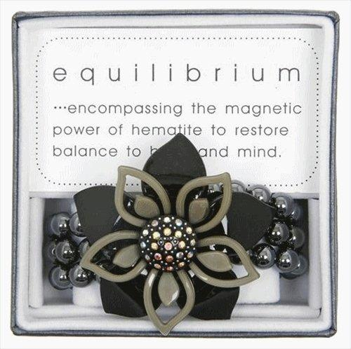 Equilibrium Bracelet Double Flower Black and Grey