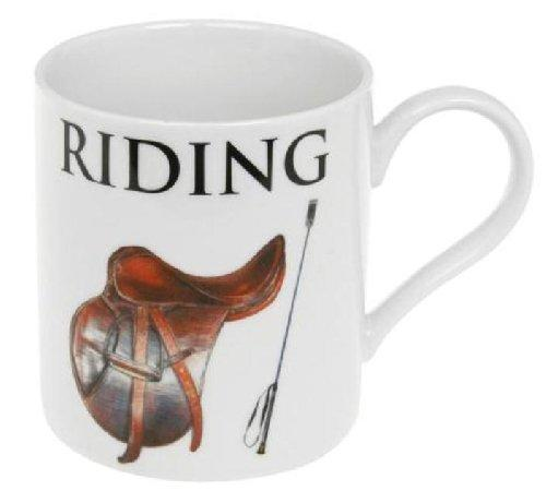 Big Letter Sport Collection Horse Riding Mug