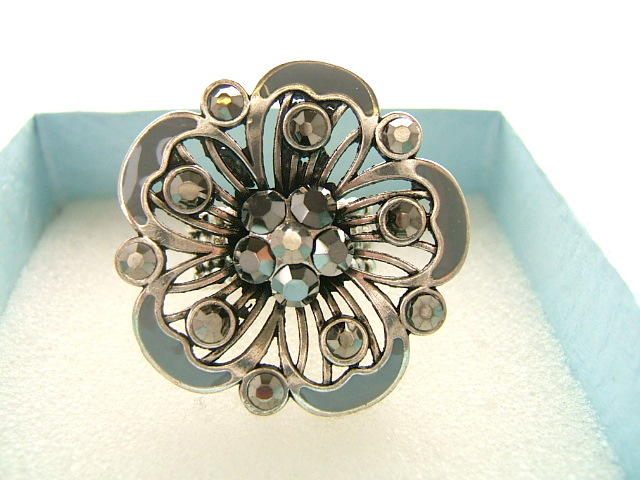 Ladies Fashion Dress Rings Touch of ColourGrey