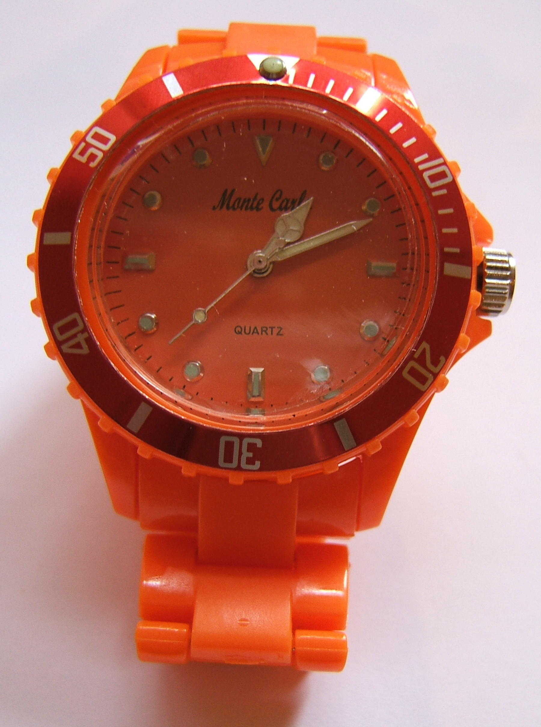 Monte Carlo Unisex Fashion Watch Orange