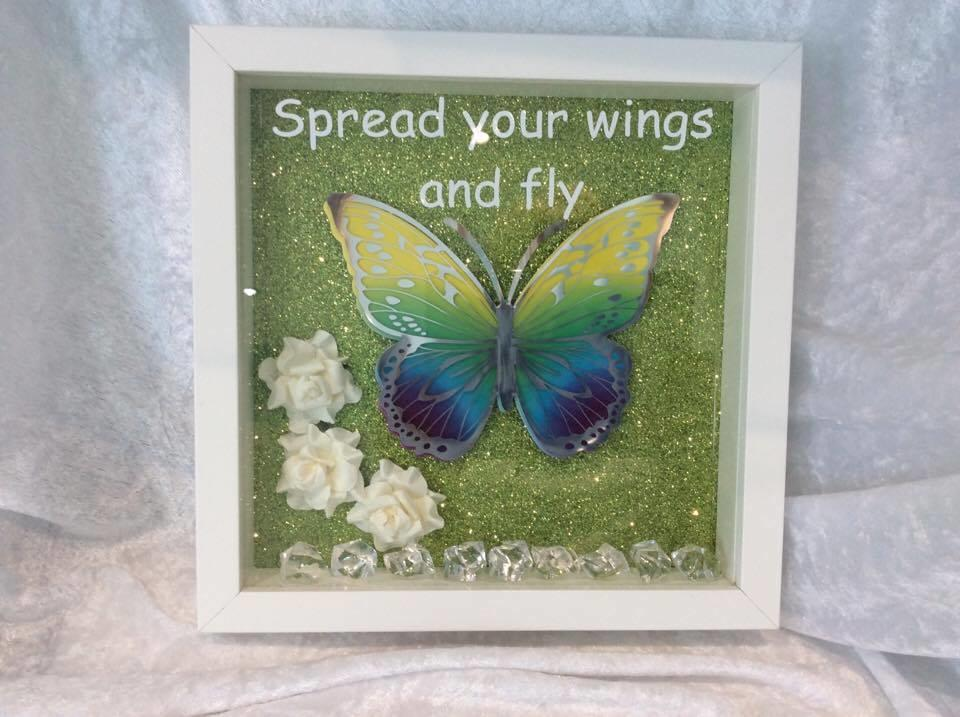 Butterfly Frame Spread Your Wings And Fly Purple Green