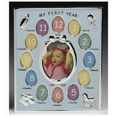 My First Year Blue Baby Boy Photo Frame