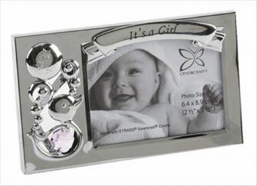 Its a Girl Crystocraft Photo Frame