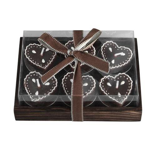 Tea Light Candles Chocolate Love Hearts