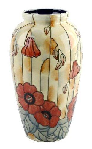 Old Tupton Ware Yellow Poppy Design 28cm Tall Vase