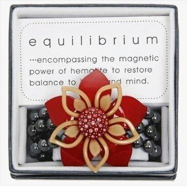 Equilibrium Bracelet Double Flower Red