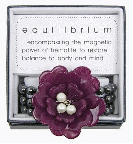 Equilibrium Bracelet Purple Flower with Beads