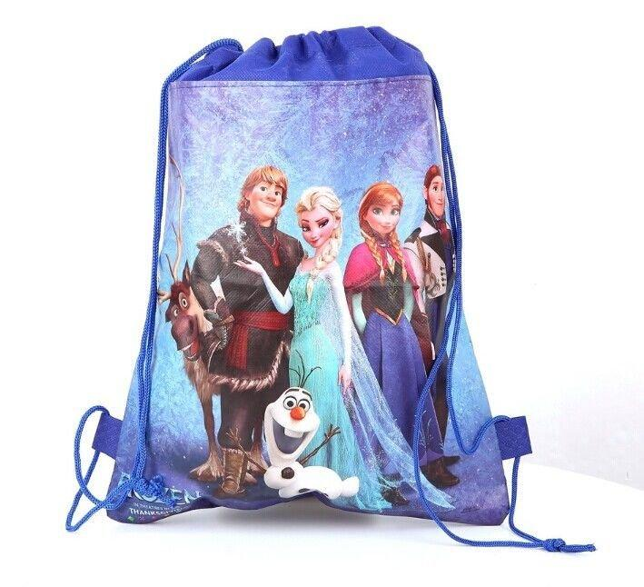 Disney Princess Frozen Theme Swimming Bag Blue