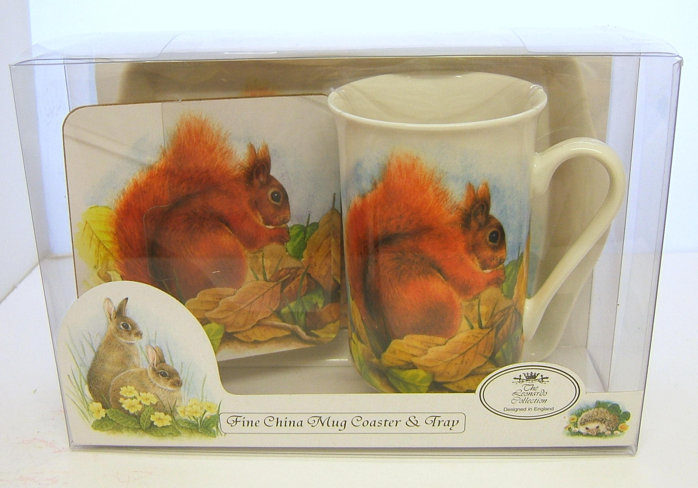 Mug Tray and Coaster Set Wildlife Squirrel