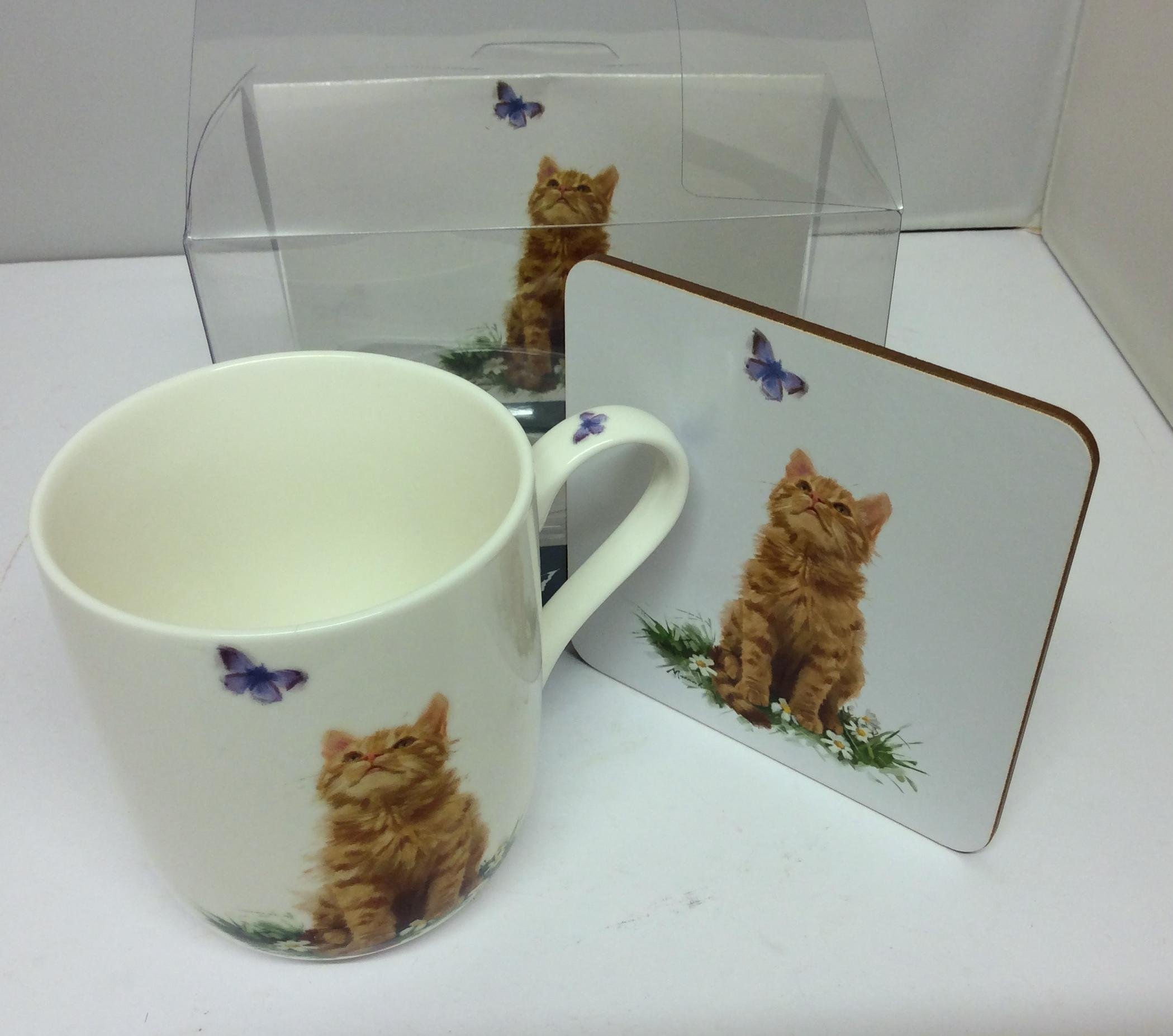 Playful Ginger Cats Mug and Coaster