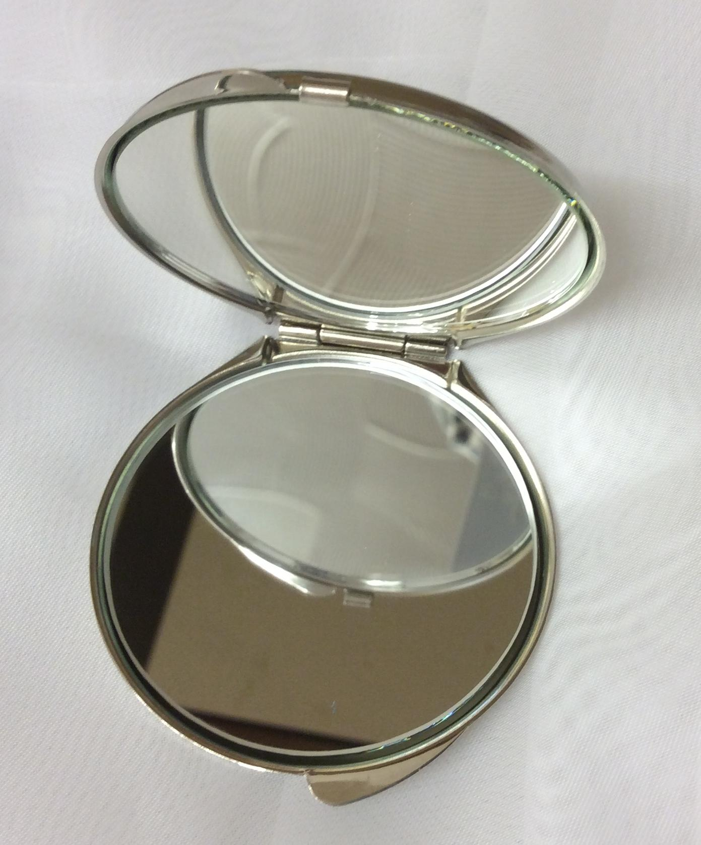 Compact Mirror Mackintosh Design Rose and Knots Open